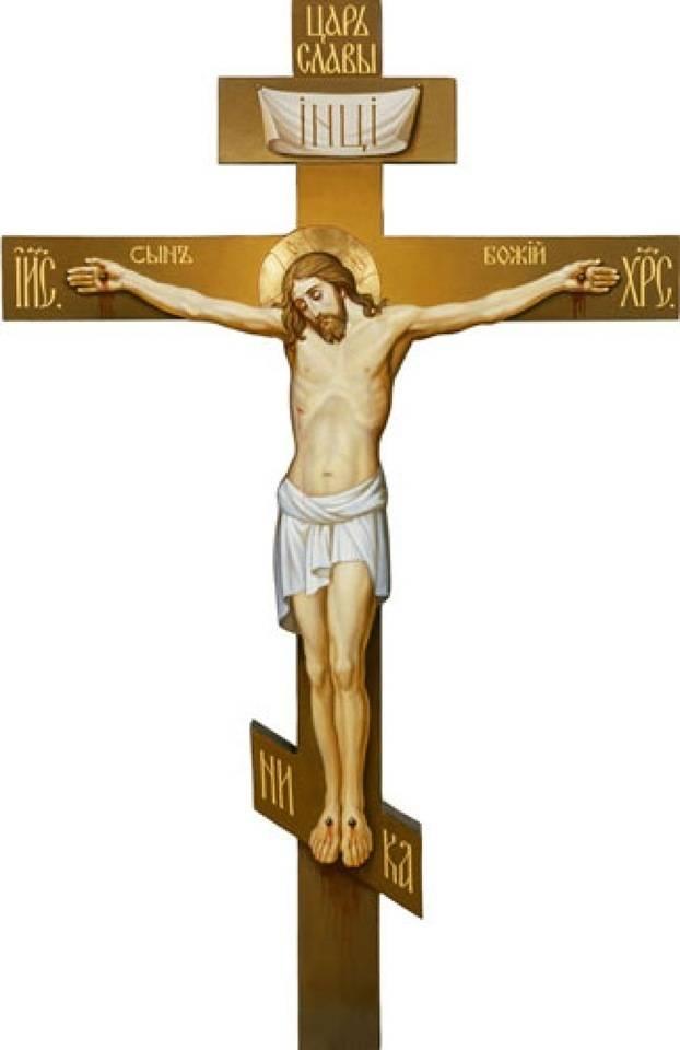 Изображение креста на одежде